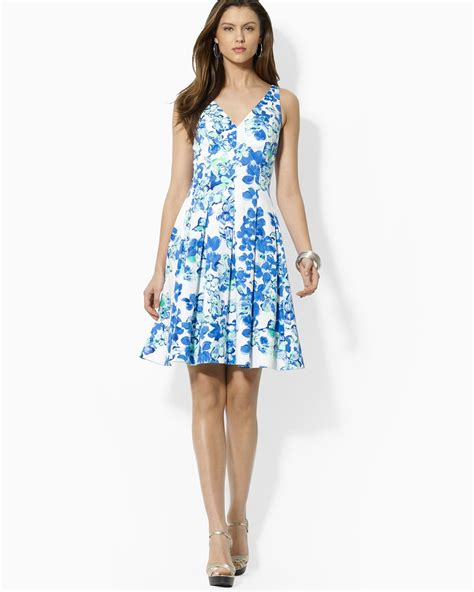 Wst 14394 Blue Flower Dress floral dress blue and white