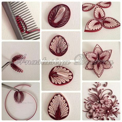 How To Make Paper Patterns - by anastasiya bertova bi綣uteria quilling