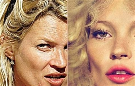 Who Is The Real Kate Moss by Kate Moss Without Makeup With Photoshop Marvels Of