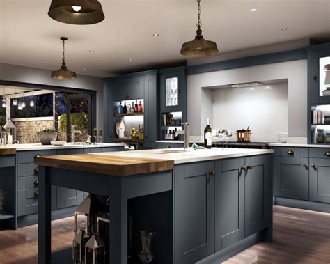 1930s Home Design Ideas by Wickes Milton Midnight Kitchen Country Kitchen Other