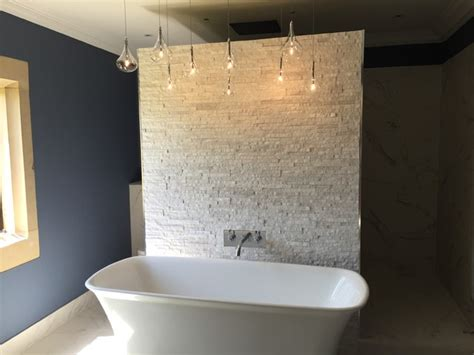 modern bathroom wall options 109 feature wall free standing bath and hanging