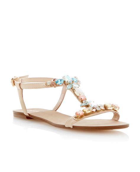 flat dress sandals dune flats lyst