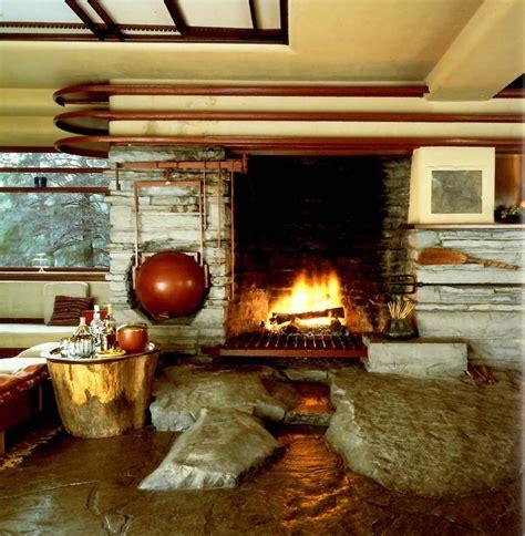 Falling Water Interior by Frank Lloyd Wright La Maison De La Cascade 1935