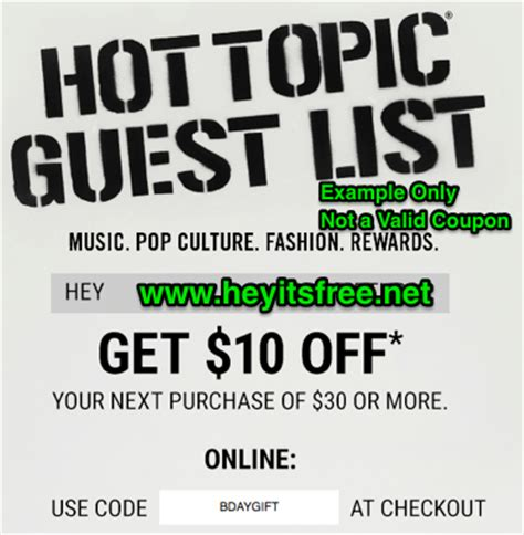 Hot Topic Gift Card Codes - hot topic gift card promo code infocard co