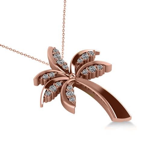 Tree Friendly Pendant Necklace by Summer Palm Tree Pendant Necklace 14k Gold 0 24ct