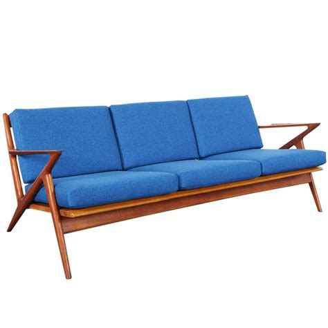 danish modern sectional sofa danish modern teak quot z quot sofa by poul jensen at 1stdibs