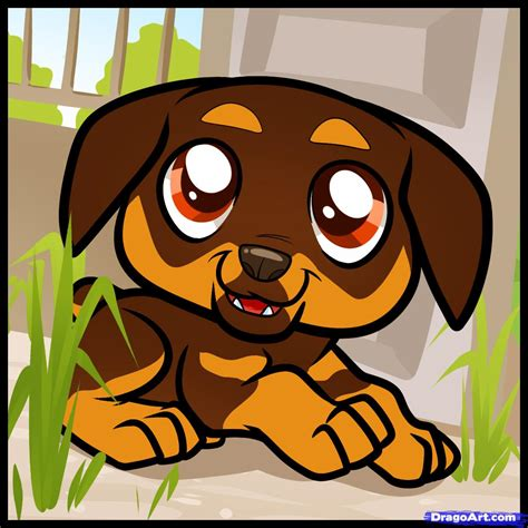 how to a rottweiler puppy how to draw rottweiler puppy rottweiler puppy step by step pets animals free