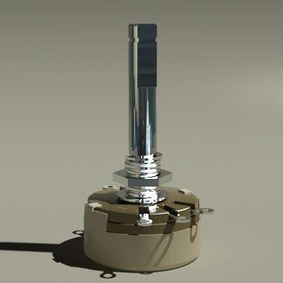 variable resistor working potentiometer variable resistor 3d model