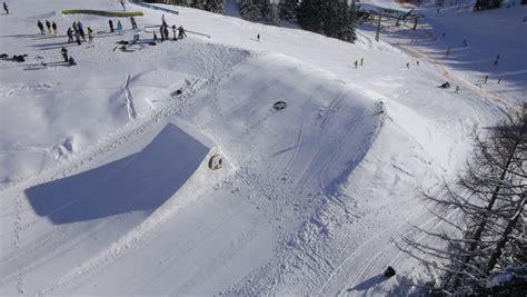 Kickers Slop 10 ski slopes stock footage 5493284