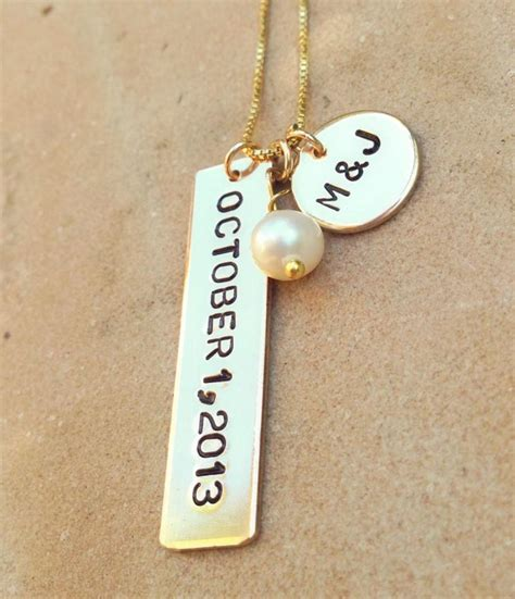 Wedding Gift Necklace by Wedding Necklace Gift Personalized Wedding
