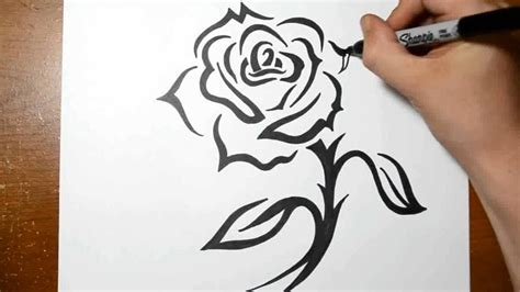 how to tattoo a rose how to draw a tribal design with a stem
