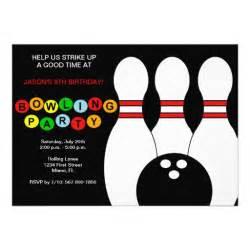 boys bowling birthday invitation 5 quot x 7 quot invitation card zazzle