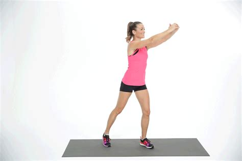 high knee march with a twist cardio ab exercises popsugar fitness uk photo 8