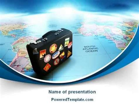 International Tourism Powerpoint Template By Poweredtemplate Com Youtube Tourism Powerpoint Template