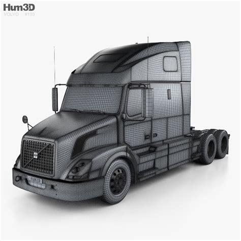 volvo truck 2011 volvo vnl 670 tractor truck 2011 3d model hum3d