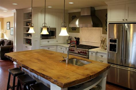 counter bar top rustic wood countertops kitchen rustic with beige wall