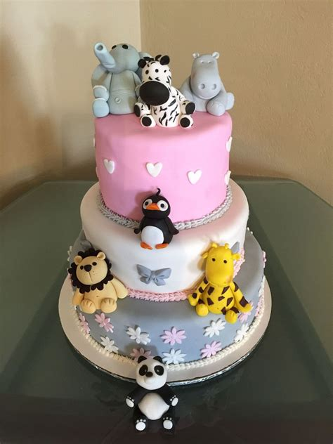 Zoo Baby Shower Ideas by Zoo Themed Baby Shower Cake Cakecentral