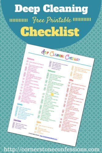 deep cleaning house checklist deep cleaning checklist free printable cleanses home