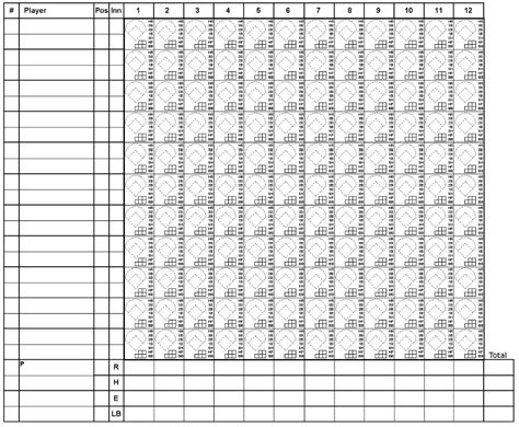 13 free sle softball score sheet templates printable