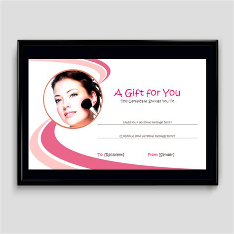 makeup gift card template gift certificate template 6 fillable certificate