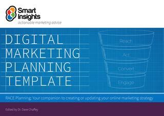 Digital Marketing Caign Planning Template by Digital Marketing Plan Template Smart Insights By