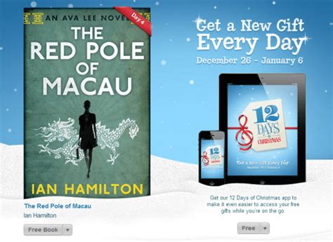 Itunes Christmas Giveaway - itunes 12 days of christmas giveaway ebook red pole of macau by ian hamilton