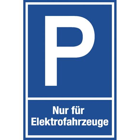 Friseur Einkauf Com Parkplatzschild Quot Elektrofahrzeuge Quot Individuelle Parkschilder