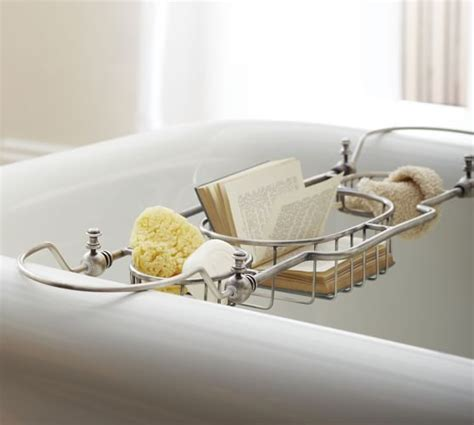 bathtub caddies bailey bathtub caddy pottery barn