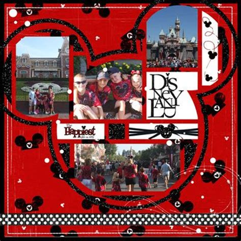 lg s scrapbook world my 2nd double page layout 17 best images about disney scrapbooking epcot on