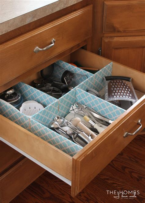 Customizable Drawer Organizer by How To Make A Customizable Kitchen Drawer Organizer