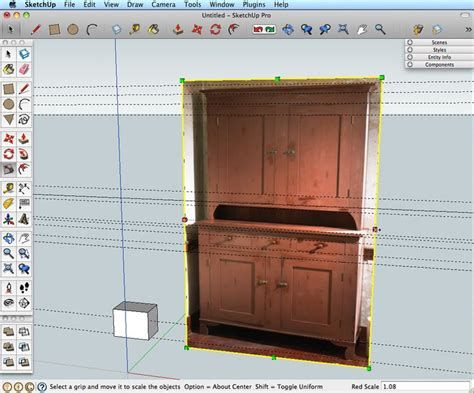 sketchup tutorial woodworking use a photo to make a sketchup model models woodworking