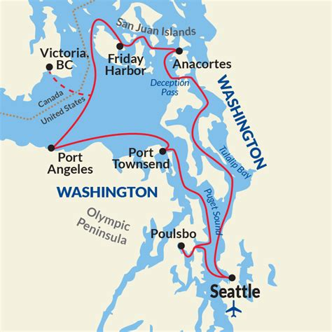 Map Of Puget Sound And by Puget Sound And San Juan Islands Cruises Usa River Cruises