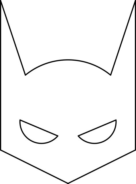 small batman mask printable sketch coloring page