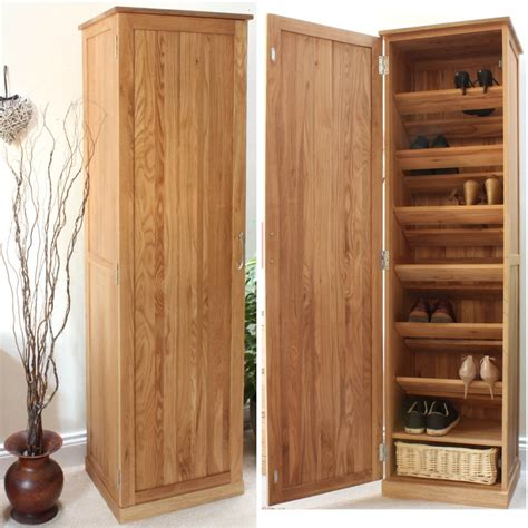 solid oak furniture shoe cupboard hallway furniture