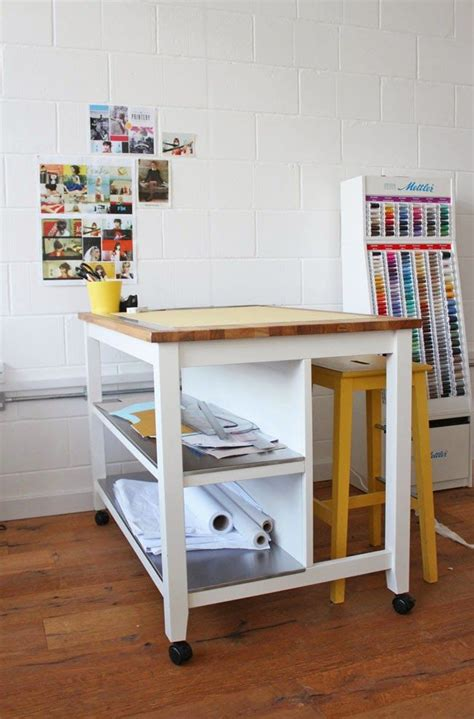 ikea kitchen bench island cutting table hack adding castors to stenstorp kitchen