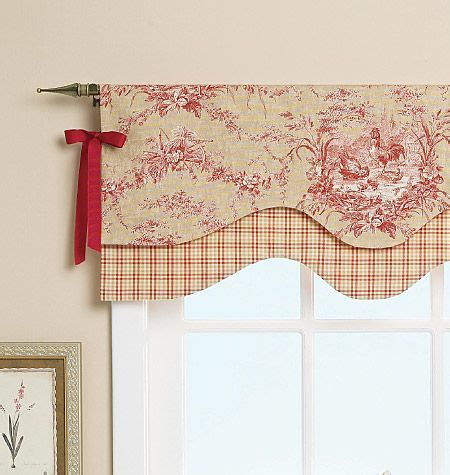 Kitchen Curtain Sewing Patterns Simple Valance Idea With Lots Of Impact From Beverly Feltner Via Butterick Mccalls A