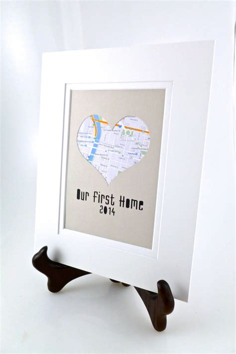 gift for new home items similar to our first home personalized heart map