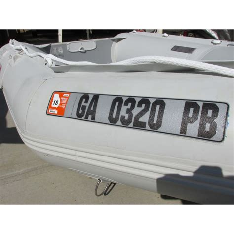 boat number plates alpine boats llc - Inflatable Boat Number Plate