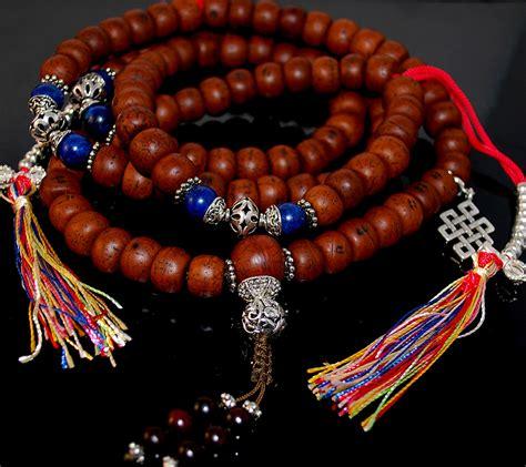 tibetan mala bodhi seed and lapis tibetan mala