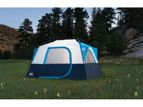 Coleman Instant 6 Cabin Tent by Coleman 6 Person Instant Cabin Tent Polyester Blue Silver