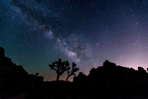 night sky stars desert  photo  pixabay