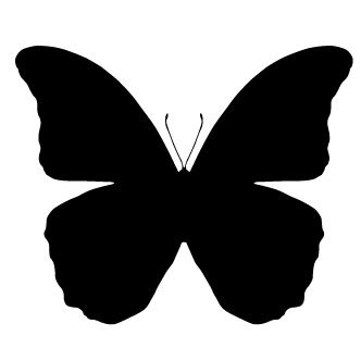 Imagenes De Mariposas Siluetas | silueta de mariposa para imprimir imagui