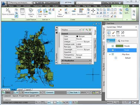 tutorial autocad map 3d 2012 lesson 2 take a quick tour of autocad map 3d