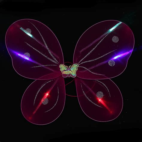 light up butterfly wings light up fairy wings 3 pack dream rave