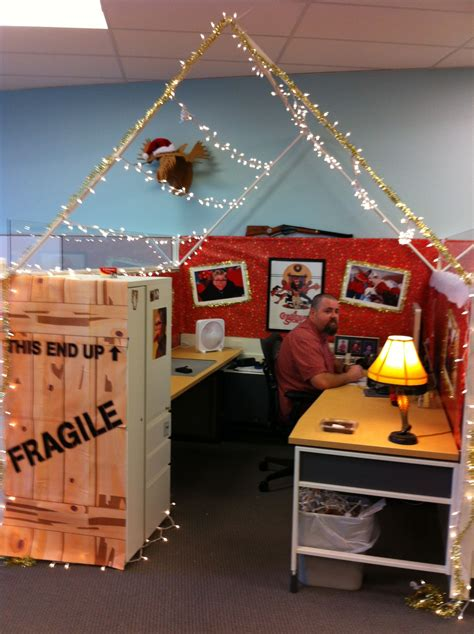christmas cubicle decorating contest ideas during our cube decorating contest the winner decked his out in quot a story
