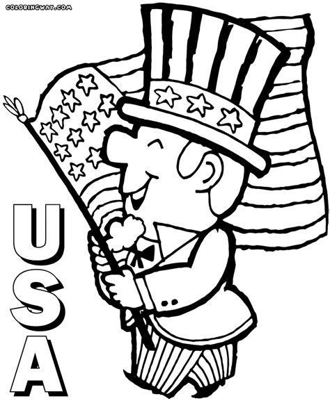 usa flag coloring page printable coloring usa flag page 528 best images