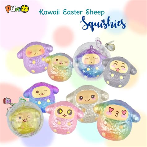 Punimaru King Banana Squishy puni maru mini easter sheep squishies flower