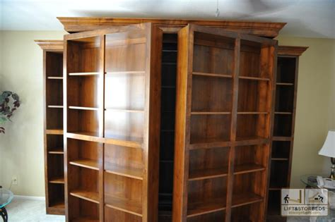 Wall Bookcase Murphy Library Beds For Your Home Lift Amp Stor Beds