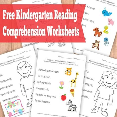 Kindergarten Reading Comprehension Worksheets by Kindergarten Reading Comprehension Worksheets Literacy