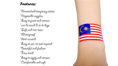 tattoo transfer paper malaysia 10pcs waterproof flag of malaysia facial tattoo temporary